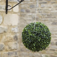 Artificial Boxwood Topiary Hanging Ball 30 cm