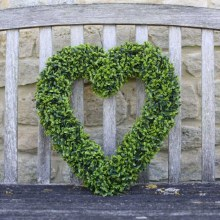 Topiary Heart Faux Garden Decor
