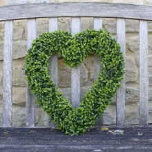 Artificial Boxwood Topiary Heart
