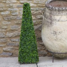 Artificial Boxwood Topiary Obelisk 60cm