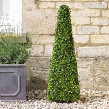 Artificial Boxwood Topiary Obelisk 90cm