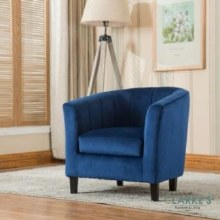 Toronto Kids Tube Chair Blue Velvet