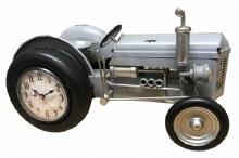 Tractor Clock Grey