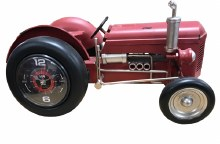 Tractor Clock Red