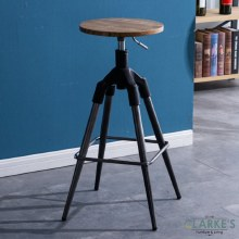 Trey industrial style bar stool