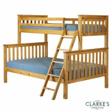 Triple pine bunk bed