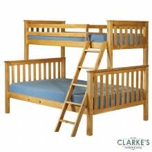 Triple pine bunk bed