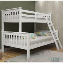 Triple white bunk bed