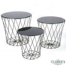 Art Up Set of 3 Small Side Tables