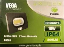 Greenlamp 10W LED Flloodlight with PIR Sensor