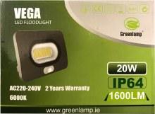 Greenlamp 20W LED Floodlight with PIR Sensor