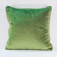 Velvet Moss Piped Cushion
