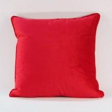 Velvet Raspberry Piped Cushion