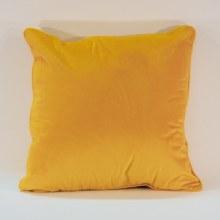Velvet Saffron Piped Cushion