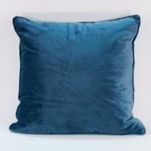 Velvet Teal Piped Cushion