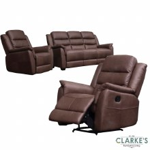 Vivo 3+1+1 Sofa Suite Brown