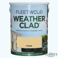 Fleetwood Weather Clad Cream 5 Ltr