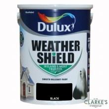 Dulux Weather Shield Black 5Ltr