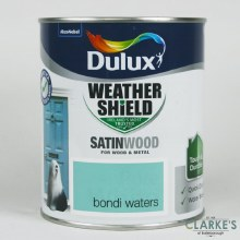 Dulux Weather Shield Satinwood Paint Bondi Waters 750 ml
