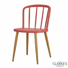 Willow red dining chair