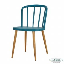 Willow teal dining chair