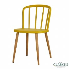 Willow yellow dining chair