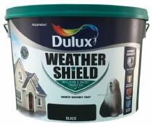 Dulux Weather Shield Black 10Ltr