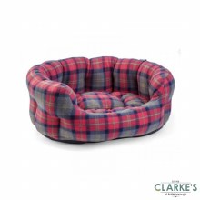 Check Oval Dog Bed Small