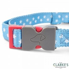 Walk About Starry Blue Dog Collar Large