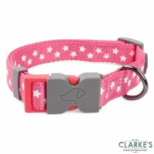 Walk About Starry Pink Dog Collar Large