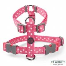 Walk About Starry Pink Dog Harness Medium