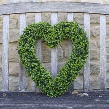Topiary Heart Faux Garden Decor