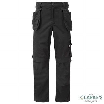 Tuff Stuff ProFlex 715 Work Trousers Black W32 L30