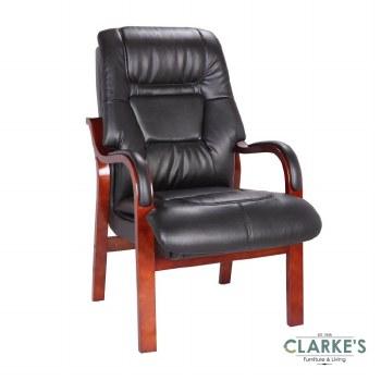 Vera Fireside Chair Black