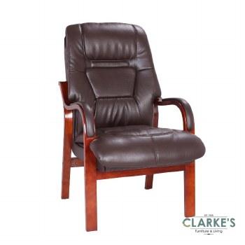 Vera Fireside Chair Brown