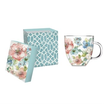 Summer Blooms Cafe Cup