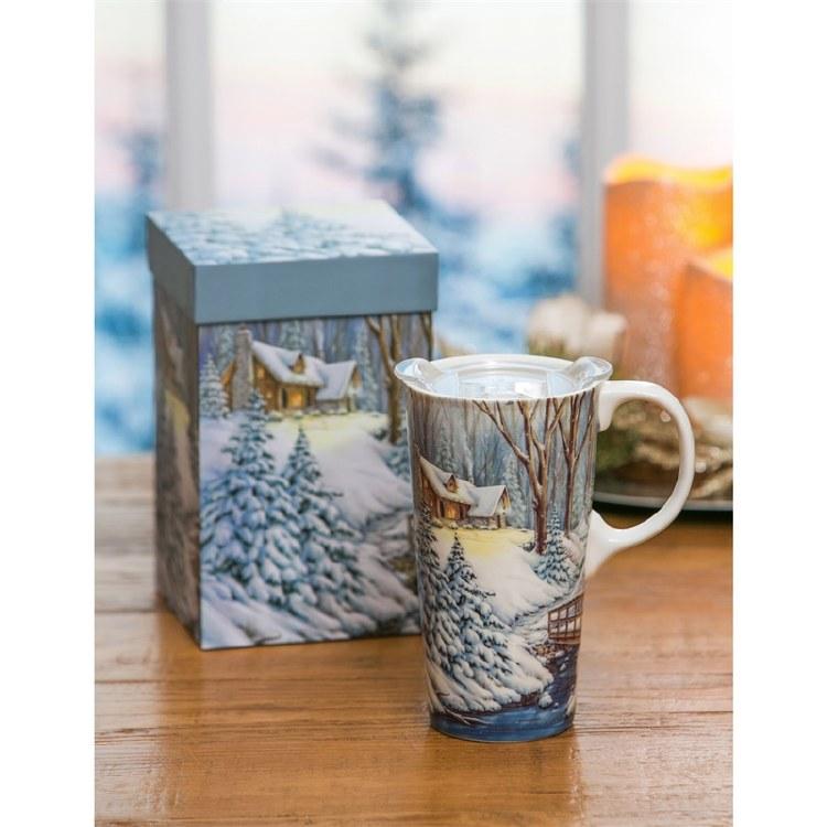 Cottage Travel Mug