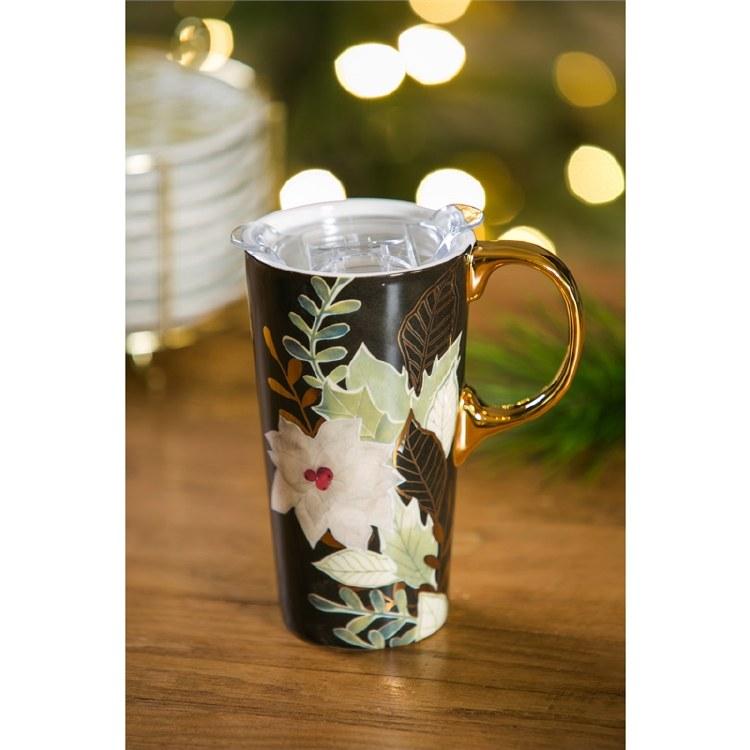 Gilded Christmas Travel Mug