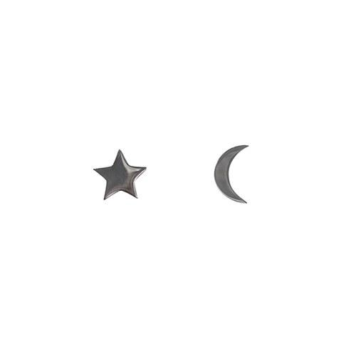 Star+Moon Stud