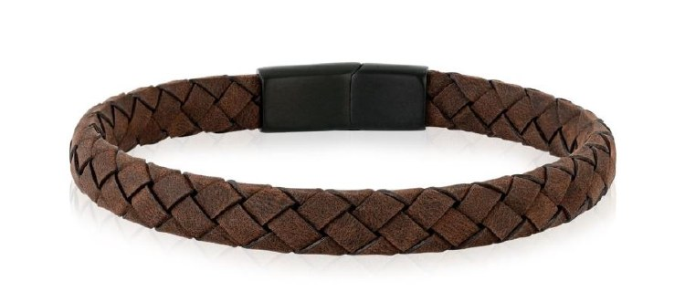 Flat Brown Leather Bracelet