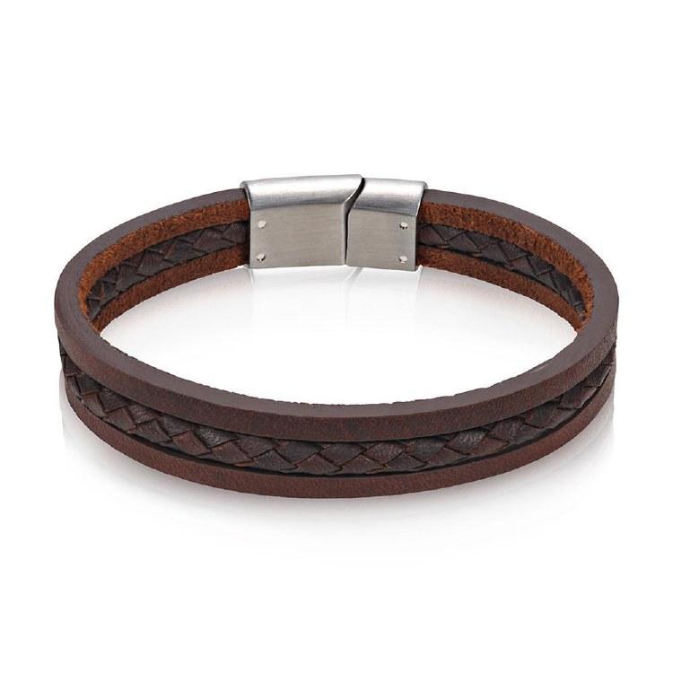 Triple Strand Leather Bracelet