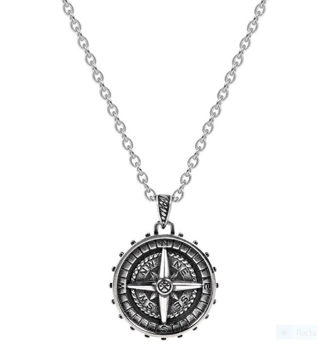 Steel Compass Pendant