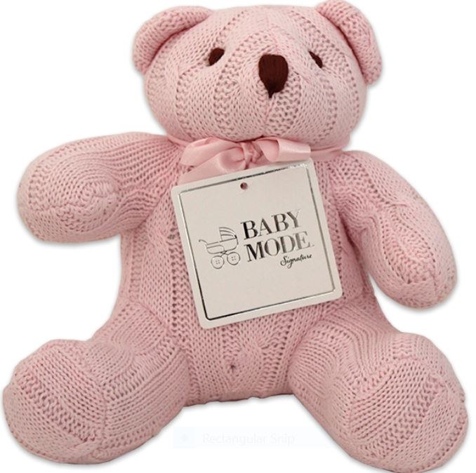 Cable Knit Bear Pink