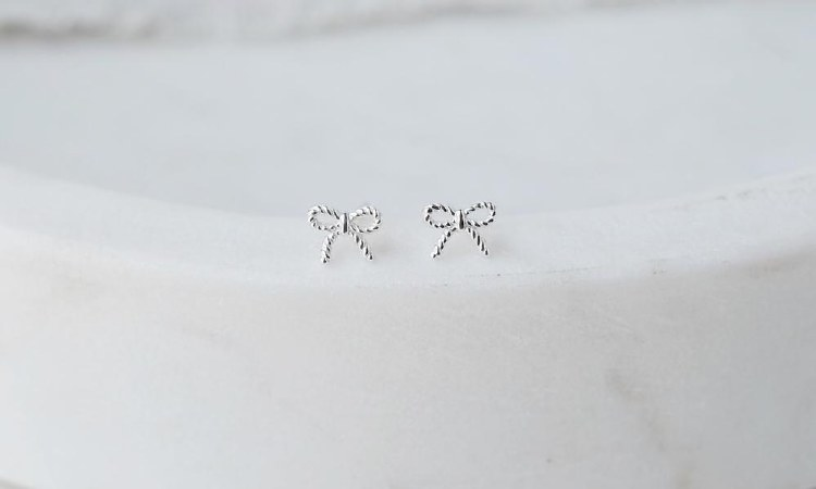 Silver Bow Earrings