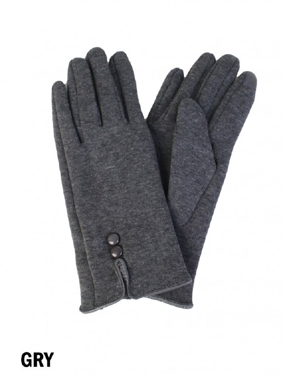 Buttoned Touch Screen Gloves