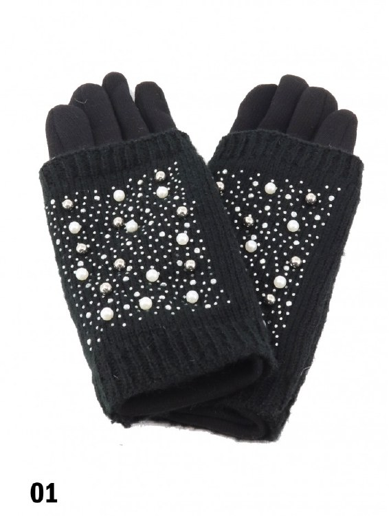 Touch Screen Glove w Pearl Blk