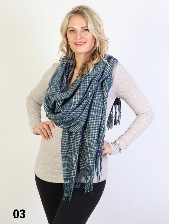 Houndstooth Printed Scarf