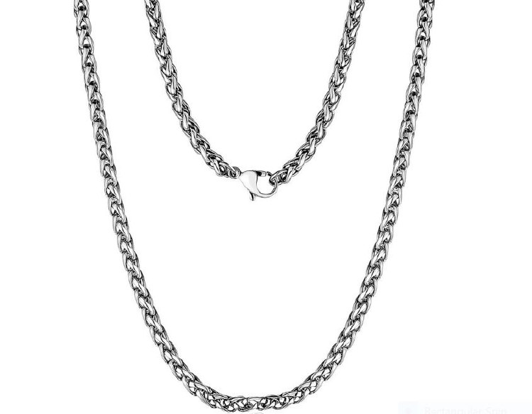 Round Franco Steel Necklace