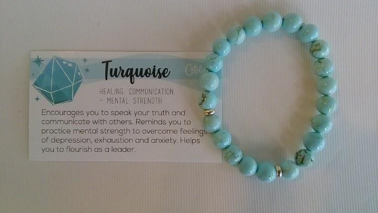 Gemstone Bracelet Blue Turq