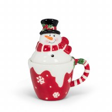 Snowman in Cup S&P Set